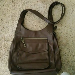 Fossil 1954 Brown Leather Shoulder Bag 75082